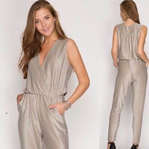 546f7440990 Metallic Grey Jumpsuit! Brand New with Tags!